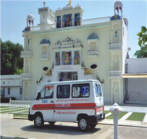 ambulance facility at ked temple for ked village